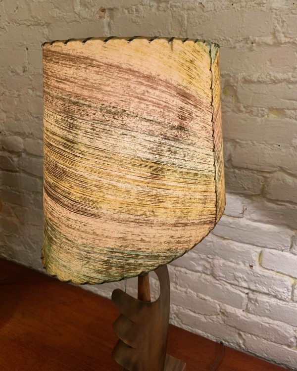 Heifetz Wood & Metal Sculptural Table Lamp