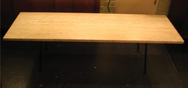 Large Travertine Coffee Table