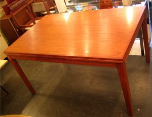 Danish Teak Draw Leaf Dining Table and Six Chairs