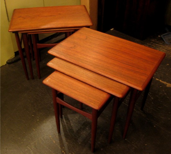 Pair of 1960's Set of Teak Nesting Tables
