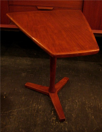 Dux Pedestal Based Teak Side Table