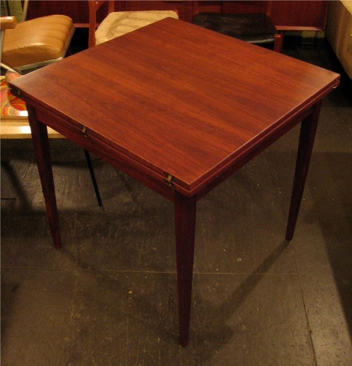 Walnut Flip-Top Game/Dining Table