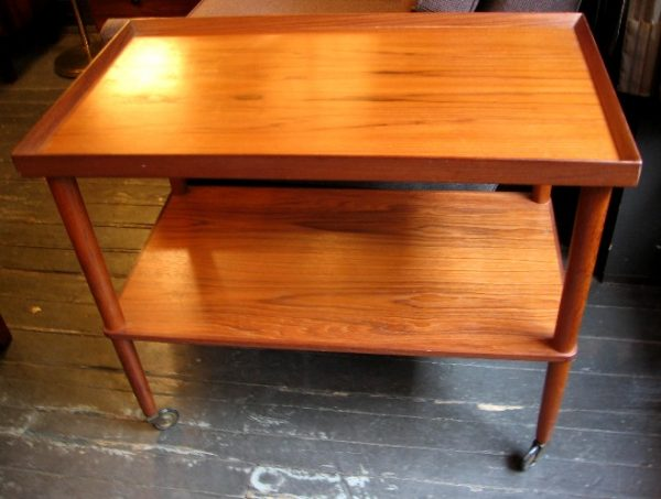 Danish Teak Rolling Bar/Tea/TV Cart