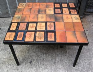 Capron Herbier Ceramic Table on a Metal Frame