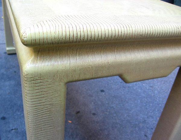 Karl Springer Lizard Skin Console Table