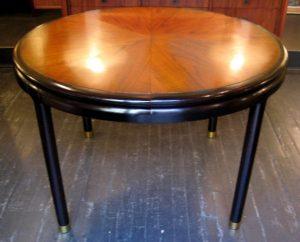 John Stuart Walnut and Mahogany Dining Table