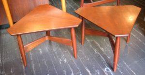 Solid Teak Danish Side Tables