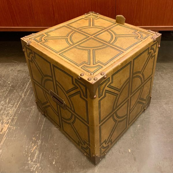 1950s Rolling Storage Cube/Side Table/Bench