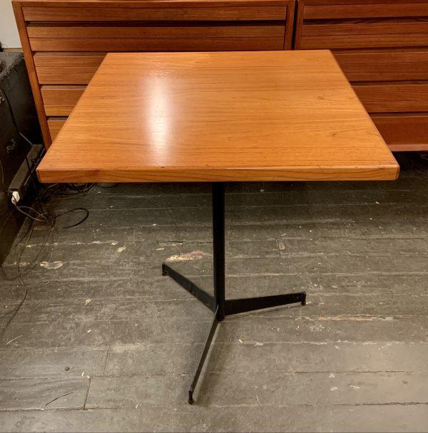 Teak & Iron Cafe Table