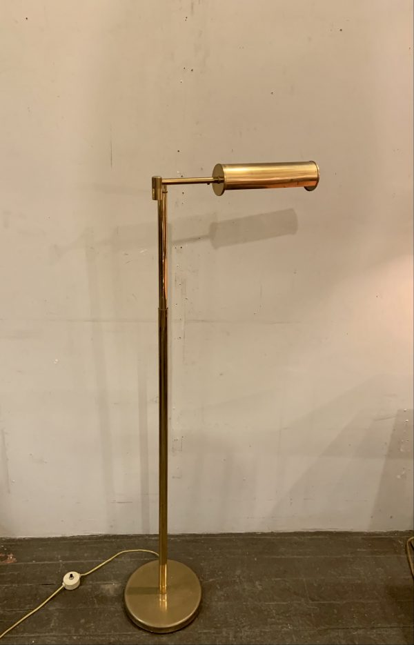 Nessen Telescoping Swing Arm Brass Pharmacy Lamp