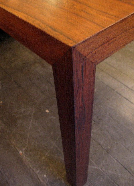 Brazilian Rosewood Parsons Style Side Table
