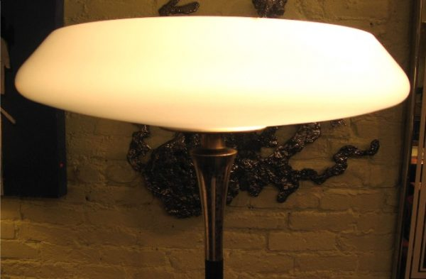 1960s Laurel Torchiere Lamp with Hand Blown Shade