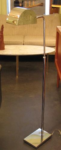 Robert Soneman 1970's Chrome Floor Lamp