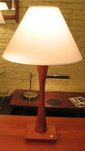 1950s Walnut Table Lamp