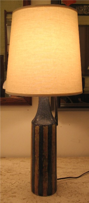 1950s Danish Ceramic Table Lamp