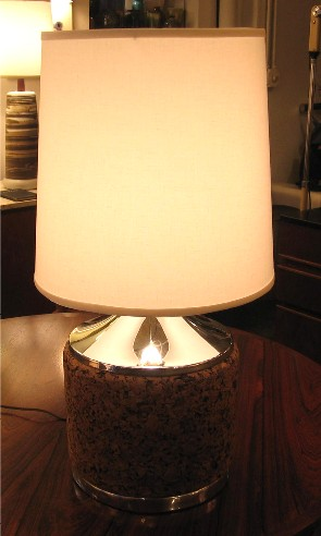 1970s Cork Table Lamp