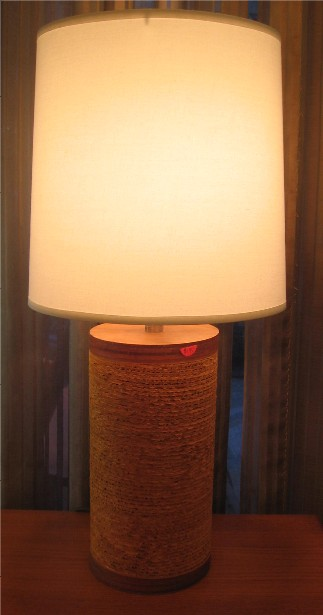 Gregory A Van Pelt Cardboard and Plywood Table Lamp