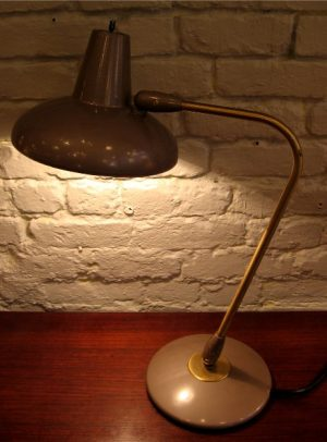 1950s Articulating Metal Industrial Lamp