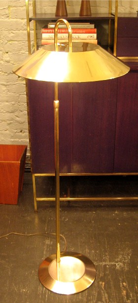 Gerald Thurston Lightolier Adjustable Brass Floor Lamp
