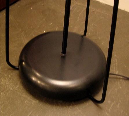 1950s Bent Iron Tripod Floor Lamp