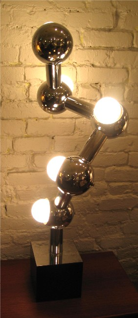 1970s Chrome DNA Table Lamp