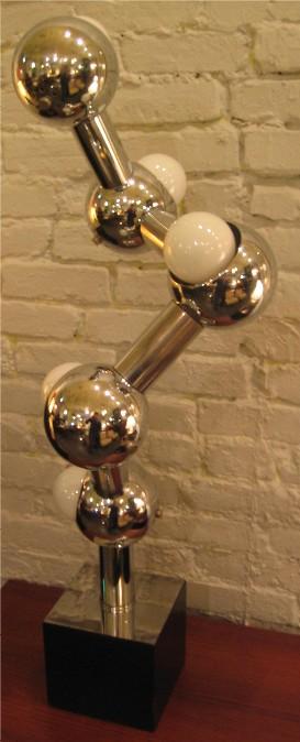 1970s Chrome DNA Table Lamp1970s Chrome DNA Table Lamp