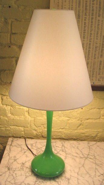1960's Green Laurel Genie Style Lamp
