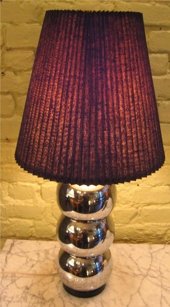 1970's Chromed Balls Table Lamp