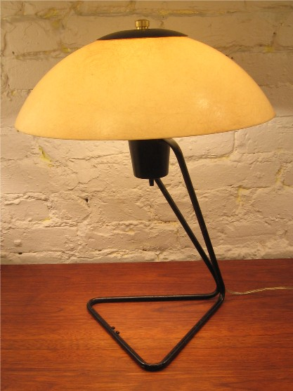 1950s Metal and Fiberglass Adjustable Lamp