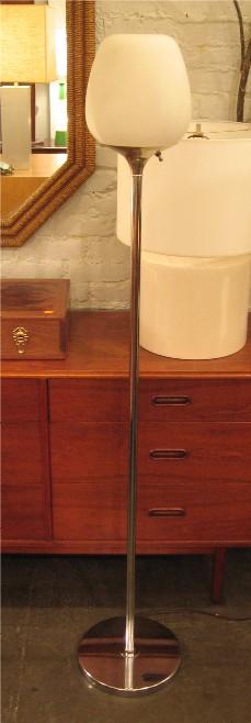 1970s Chrome & Glass Floor Lamp
