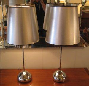 1970s Chrome Table Lamps by Robert Sonneman