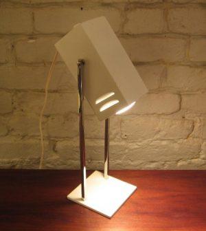 1970s Robert Sonneman Chrome and Lacquered Metal Task Lamp