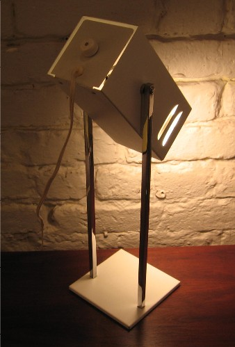 1970s Robert Sonneman Chrome and Lacquered Metal Task Lamp