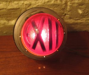 1940's Orb Shaped Wall Mounting EXIT Lamp