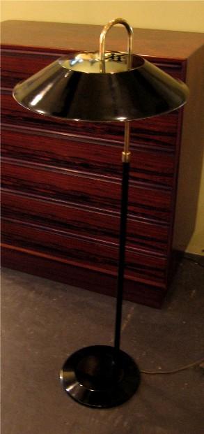 Gerald Thurston Lightolier Adjustable Metal & Brass Floor Lamp