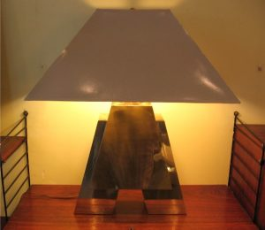 1970's Brass A Shaped Table Lamp