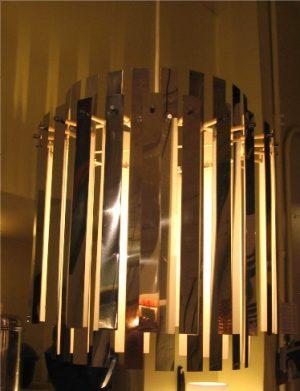 1970's Chrome Pendant Lamp
