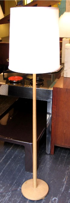 1960s Swedish Ash Wood Floor Lamp