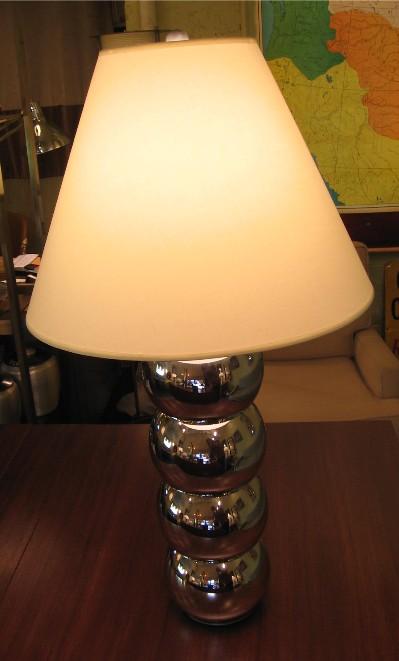 1970s Chrome Ball Table Lamp