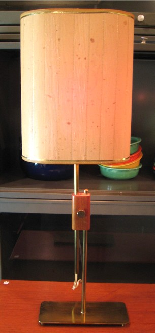 1950s Brass Table Lamp attributed to Paul McCobb
