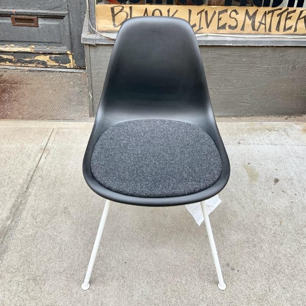 Eames Herman Miller Molded Plastic Side Chairs With Seat Pad