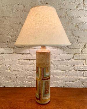 1950s Hand Thrown Italian Stoneware Lamp