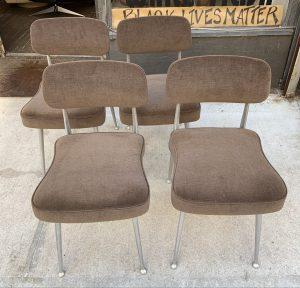 Shelby Williams Cast Aluminum Gazelle Chairs