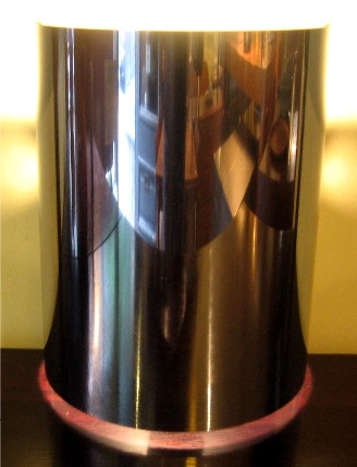1970s Split-Cylinder Chrome Lamp