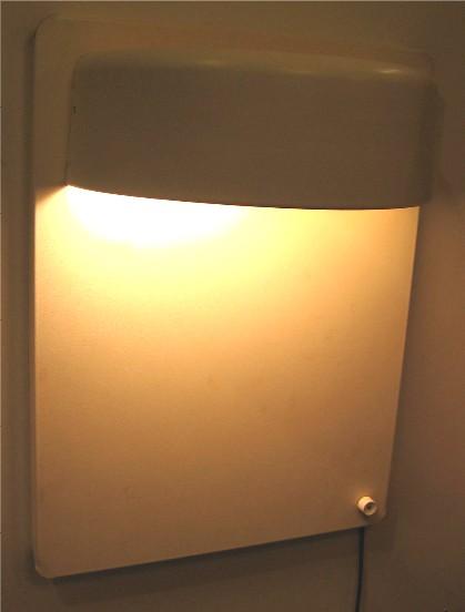1970s Large Wall Mounted Metal Lamp