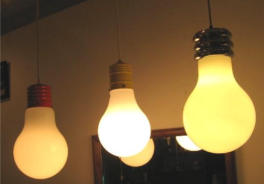 1970s Light Bulb Pendant Lamp