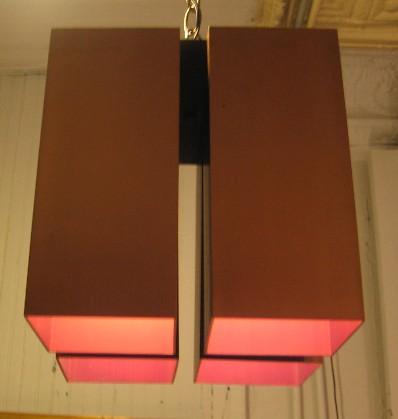 Architectural Flush Mount Ceiling Fixtures attr. Robert Sonneman