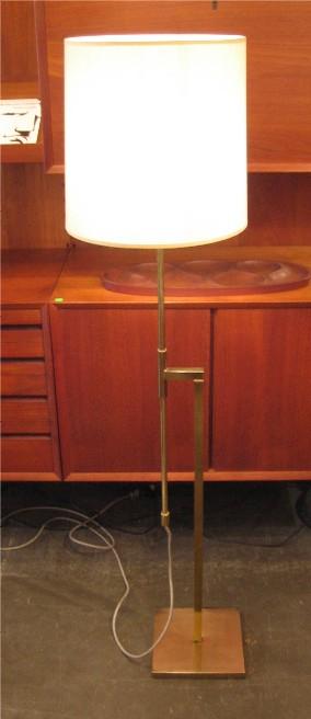Adjustable 1960s Brass Floor Lamp by Laurel