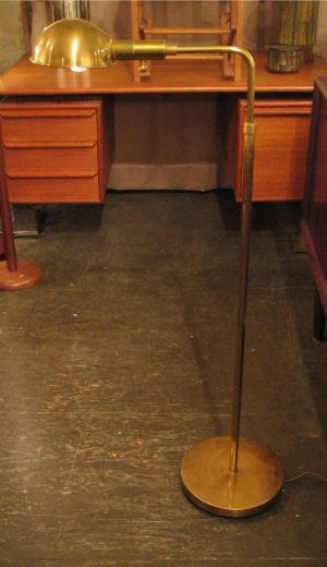 Adjustable Brass Pharmacy Floor Lamp by Chapman