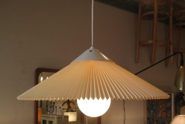1970s Pleated Plastic Pendant Lamp